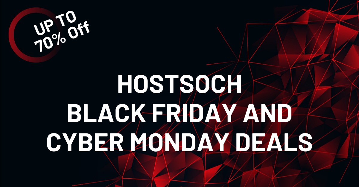 Hostsoch Black Friday Deals 2020 Massive Discount
