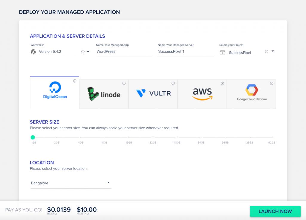 Launching a Cloudways Server