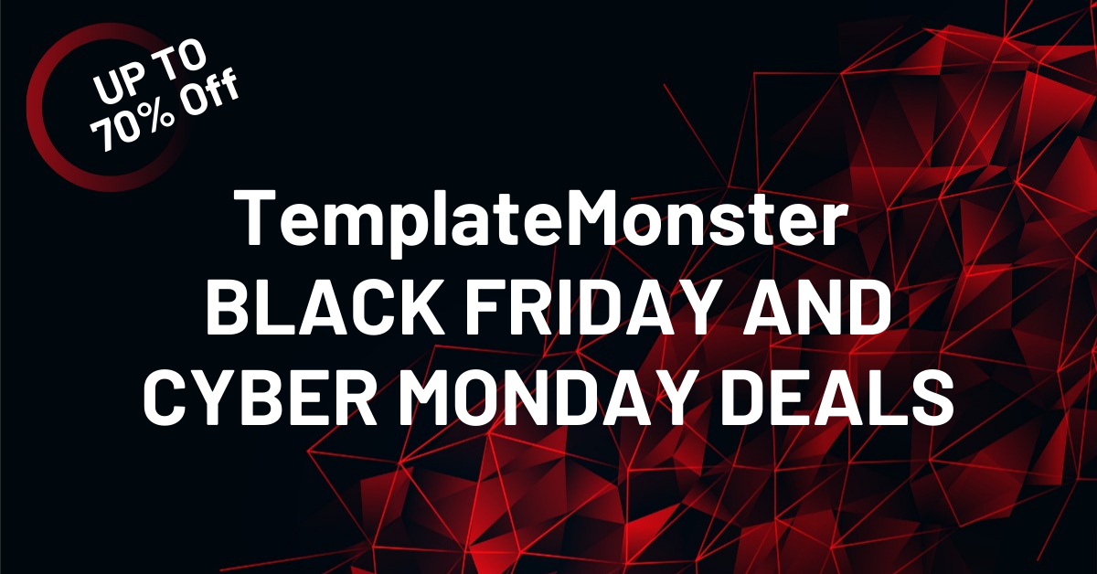 TemplateMonster BLACK FRIDAY AND CYBER MONDAY DEALS