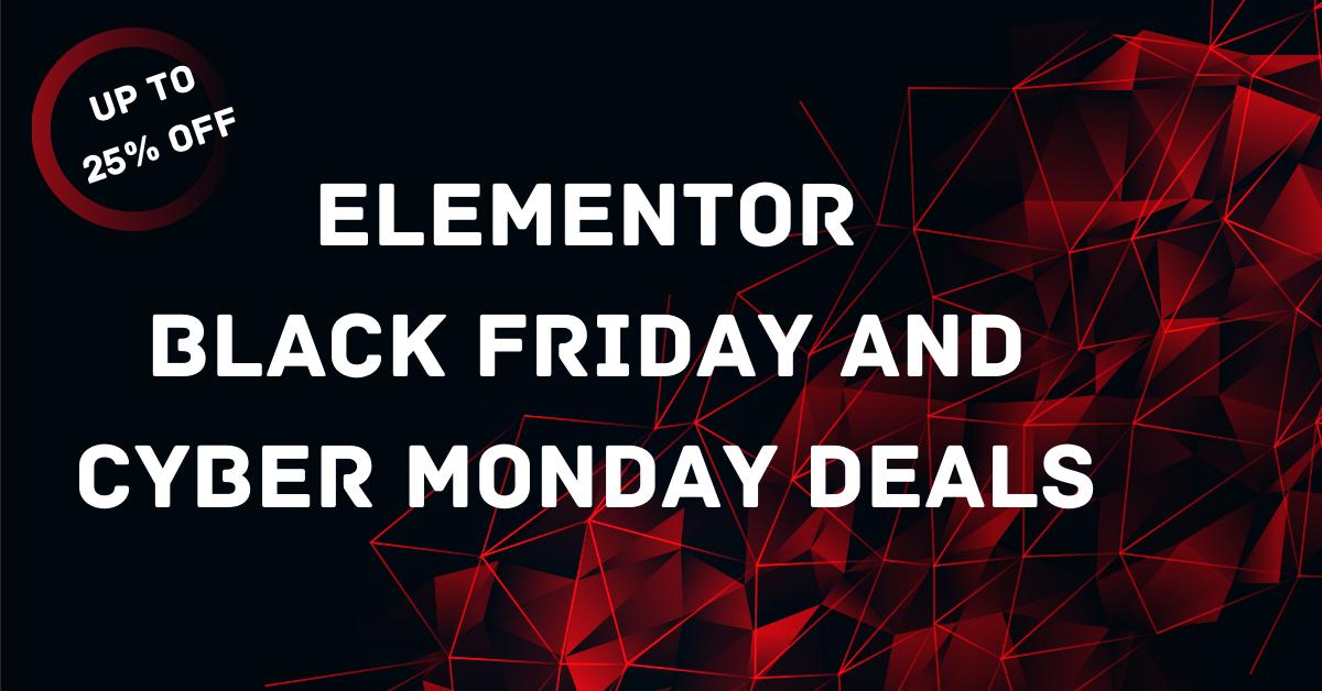 Elementor Black Friday Deal 2020: 30% OFF On All Plans