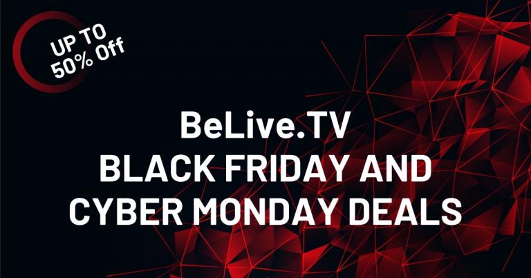 BeLive TV Black Friday Deals 2020