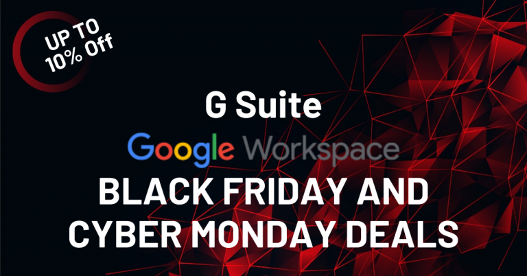 Google Workspace or G Suite Black Friday Deals 2020 and Coupon Codes