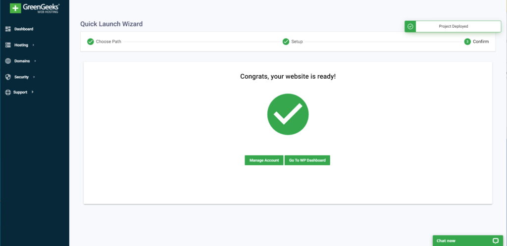 Secure Your New Web Presence With The GreenGeeks Quick Launch Tool